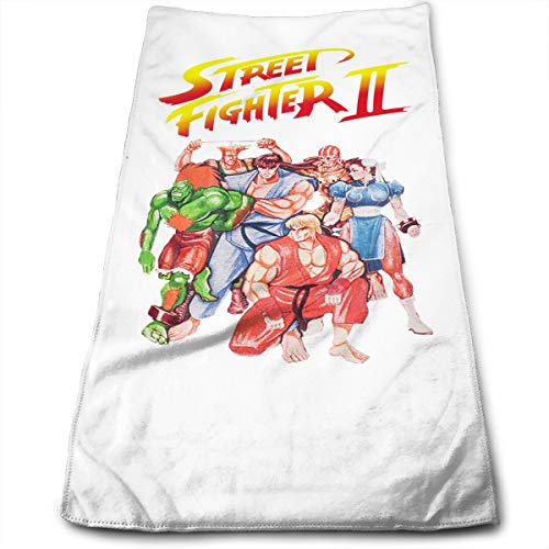 - Street Fighter II Video Game Inspired Hand Towels Super Absorbent Hand Towel Washcloth for Bathroom Spa Gym Sports Car Kitchen