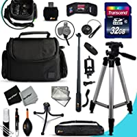 Xtech NIKON COOLPIX Accessories KIT for Nikon Coolpix P900, P610, P600, P530, P520, P340, P310, P510, P4, P3, S9900, S7000, S6900, S3700, S2900, S33, S32, S9700, S9500, P7800, P7700, L840, L830, L820, L330, L320, L620, L610, AW130, AW120, AW110 Digital Cameras Includes: 32GB High Speed SD Memory Card + Pro Grade 60 inch Tripod + Well Padded Camera Case + 3 in 1 Monopod + MORE