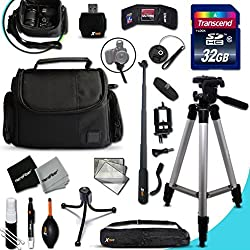 Xtech Nikon Coolpix Accessories Kit For Nikon Coolpix Aw130, Aw120, Aw110, Aw100, C810, S9900, S7000, S6900, S3700, S2900, S33, S32, S9700, S9500, S80, S60, S220, S210, S205, S200, S700, S600, S750, S520, S510, S500, S9300, S9100, S8200, S8100, S8000, S9300, S9100, S8200, S8100, S8000 S3600, S3500, S3300, S3200, S3100, S3000, S4300, S4200, S4100 Digital Cameras Includes: 32gb High Speed Sd Memory Card + Pro Grade 60' Inch Tripod + Well Padded Camera Case + 3 In 1 Monopod + More