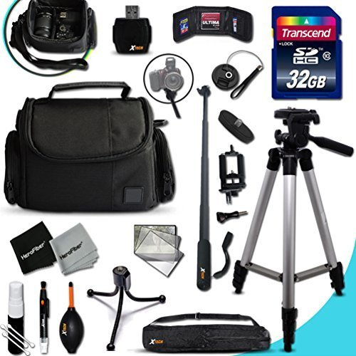PANASONIC Digital Camera Ultimate ACCESSORIES KIT for PANASONIC Lumix DMC-GX8 FZ300 G7 GF7 LX100 GM5 FZ1000 GH4 LZ40 LZ30 GM1 GX7 FZ70 G6 LF1 GF6 GH3 LX7 G5 FZ200 FZ60 LZ20 GF5 GX1 3D1 FZ15 FZ47 FZ48 LS5 GF3 G3 FG2 GH2 LX5 FZ40 FZ45 FZ100 G2 G10 GF1 FZ35 FZ38 DIGITAL Cameras Includes: 32GB High Speed SD Memory Card + Pro Grade 60' inch Tripod + Well Padded Camera Case + 3 in 1 Monopod + MORE