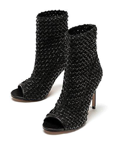ZARA Damen Knöchelhohe Sandale mit flechtmuster 1312/301