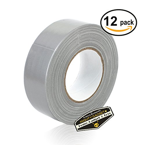 12 Rolls of Mighty Gadget (R) All- Purpose Utility Grade Duct Tape 1.88 inch x 60 yards (Silver Gray Color) hot sale