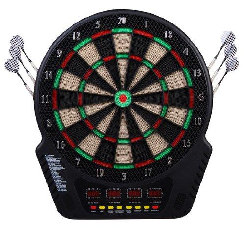 Homcom Elektronische Dartscheibe Dartboard Dartscheibe 8 Spielmodi Sound 6 Pfeile 24 Spitzen inkl. Flights