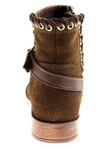 Caviglia Invernali 1702 Stivali Kathamag Verde Caviglia Boots 022 Stivali Biker Lana nExqqTX