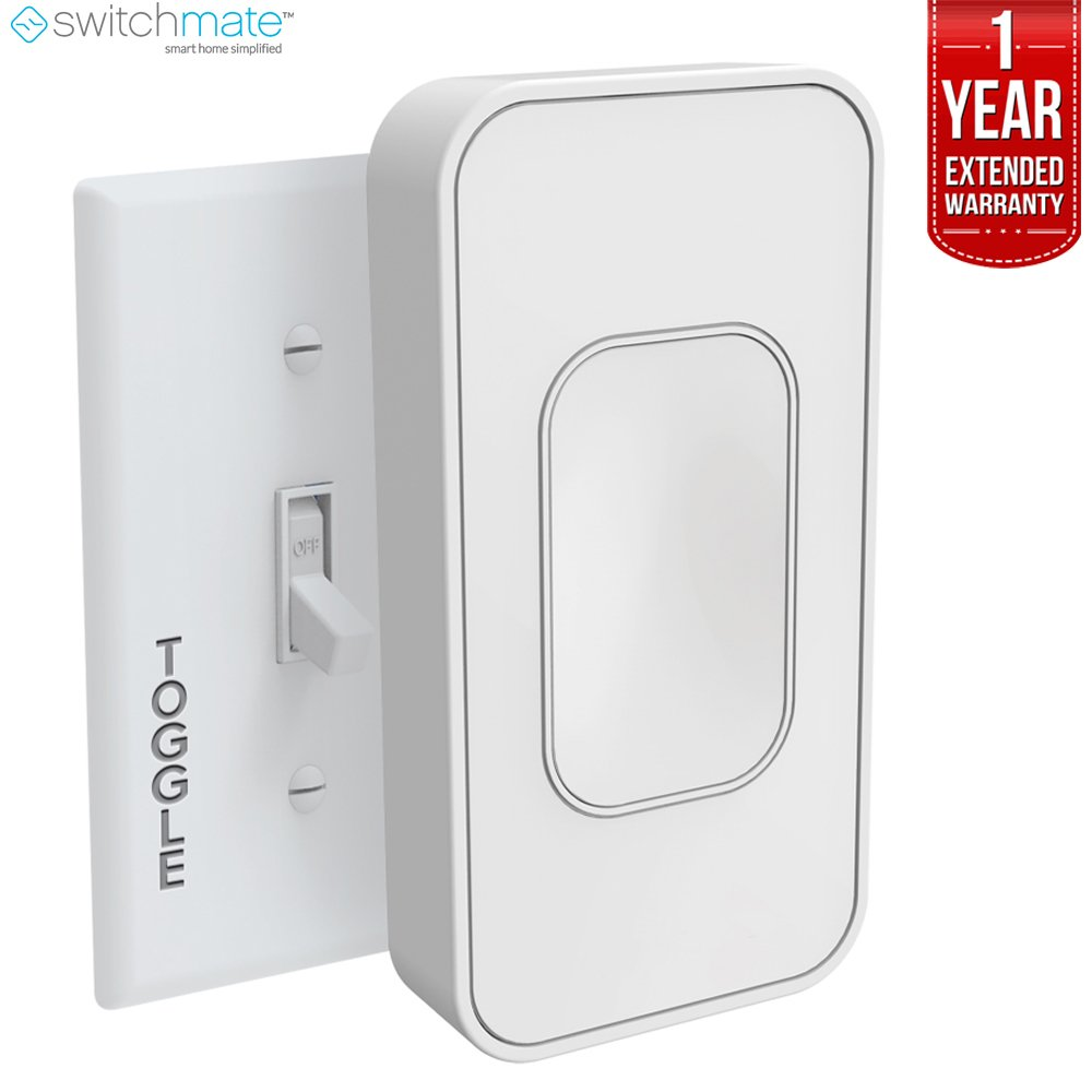 Switchmate (TSM001W Voice-Activated Wire-Free Smart Toggle + 1 Year Extended Warranty