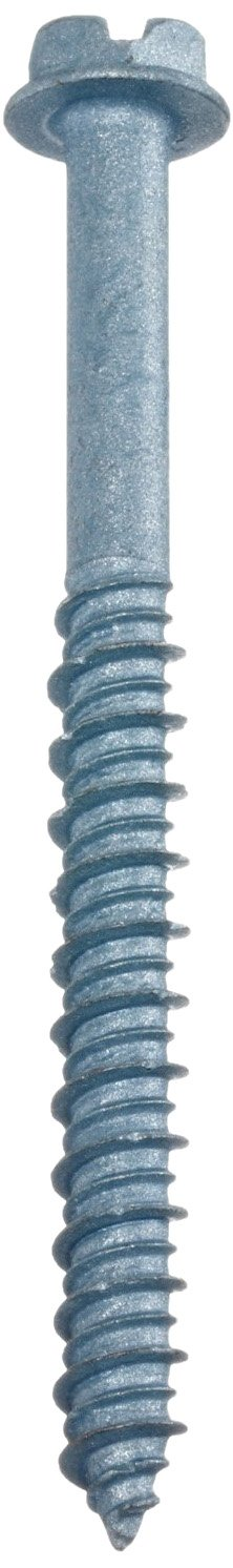 Fits 1//4 Hole Size HCS1450 Wej-It Wej-Con Concrete Screw Pack of 100 Combination Hex Slotted Drive Pack of 100 1022 Carbon Steel 1//4 Threads 5 Length Blue R-Blocker Finish Fits 1//4 Hole Size 5 Length 1//4 Threads Hex Washer Head