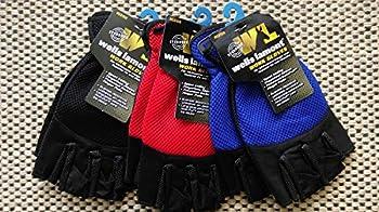 Wells Lamont 836M Medium Men's Sport Fingerless Stretch Canvas Gloves - Quantity 6