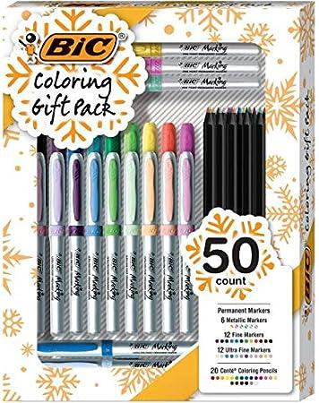 BIC - Pack de regalo para colorear, rotuladores permanentes y ...