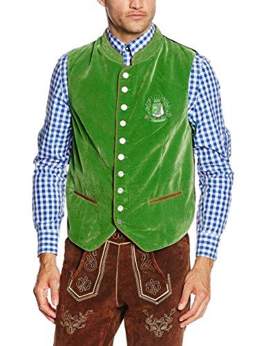 Fuchs Trachtenmoden Herren Trachtenweste, Grün (Grün), 52