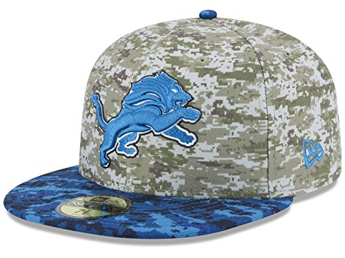 New Era Detroit Lions Official on Field 2015 Salute to Service Fitted Cap (7 3/4) (Detroit Salute To Service compare prices)