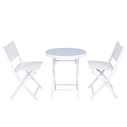 Amazon.com: MD Group - Juego de sillas de mesa plegables de ...