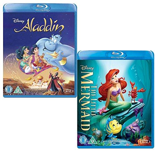 Aladdin - Little Mermaid - Walt Disney 2 Movie Bundling Blu-ray