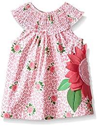 Girls' Sleeveless Smocked Neckline Sun Dress