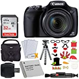 Canon SX530 HS PowerShot Digital Camera with 50x Optical Zoom & Built-in Wi-Fi (Black) + 32GB Memory Card + Camera Case + NB6L Replacement Battery + Flexible Tripod + Photo Props Holiday Package