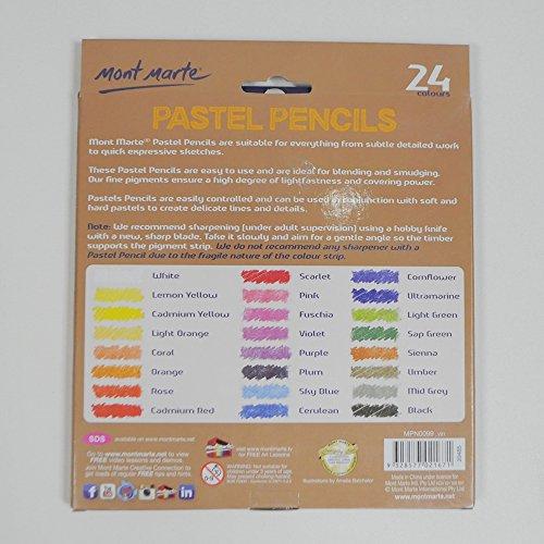 Mont Marte Pastel Pencils 24pce