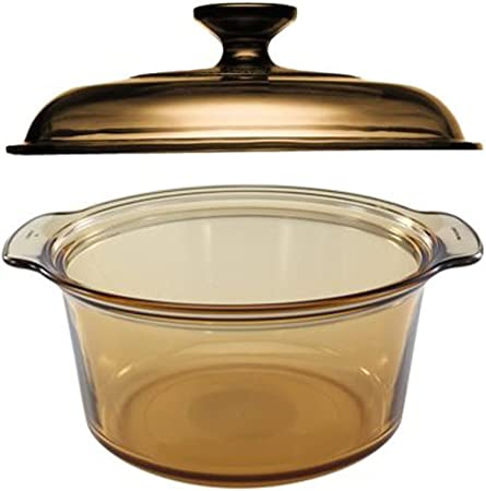 Visions 5L Round Dutch Oven With Glass Lid Cover