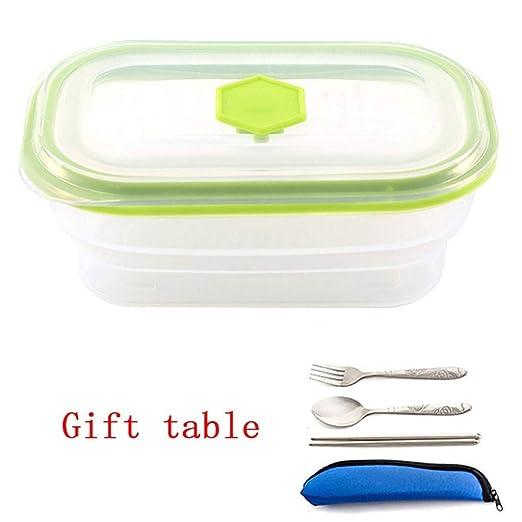 Cuenco de cerámica Bento Box portátil plegable almuerzo caja horno ...