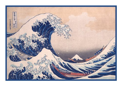 - The Great Wave Off Kanagawa Asian Hokusai Counted Cross Stitch Pattern