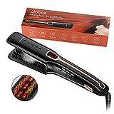 Steam Hair straightener Brush, Liaboe Hair Straightening Brush with Iron and Infrared Generator,Professional