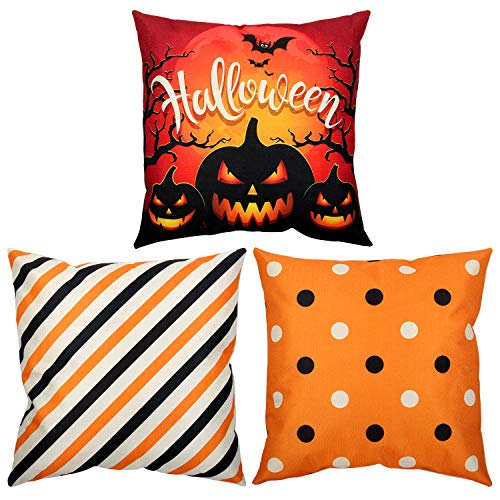 Colovis Halloween Throw Pillow Covers Set of