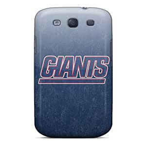 Shock-Absorbing Hard Phone Cover For Samsung Galaxy S3 With Customized Stylish New York Giants Image DrawsBriscoe