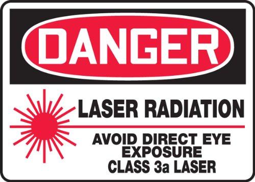 (DANGER LASER RADIATION AVOID DIRECT EYE EXPOSURE CLASS 3a LASER Sign - 10
