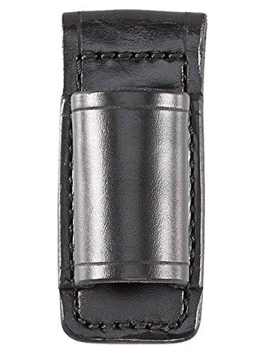 Aker Leather 554 Flashlight Holder, Black, Plain, Fits Streamlight Stinger and Surefire 6P Flashlights