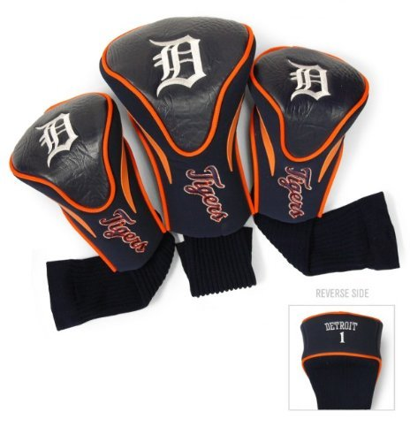 Tigers Team Logo Golf - MLB Detroit Tigers 3 Pack Contour Head Covers