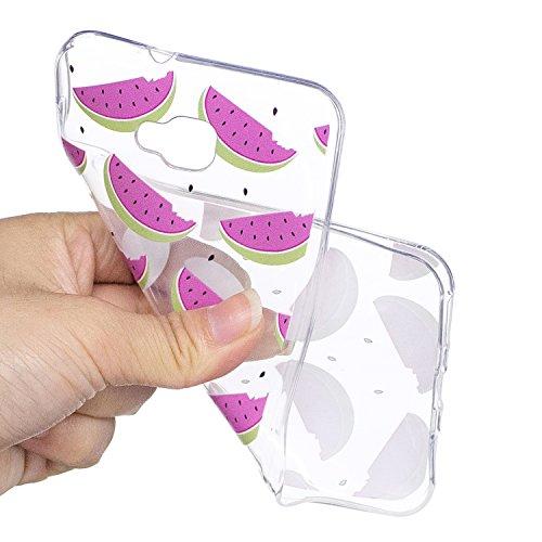 Funda Asus Zenfone 4 Selfie ZD553KL, CaseLover Transparente Suave Silicona TPU Carcasa para Asus Zenfone 4 Selfie ZD553KL (5.2 Pulgadas) Ultra Delgado Flexible Gel Protectora Cubierta Resistente a los Sandía