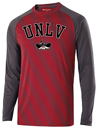 Unlv T-shirts - Ouray Sportswear NCAA UNLV Rebels Youth Torpedo Long Sleeve Tee, Large, Scarlet/Carbon