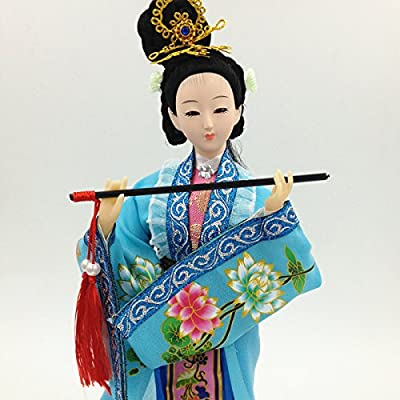 NW Chinese Traditional Handicraft Silk Figurine Collectible Chinese Doll Silk Doll