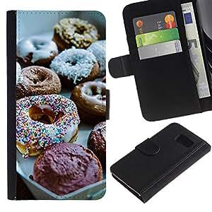 Billetera de Cuero Caso Titular de la tarjeta Carcasa Funda para Samsung Galaxy S6 SM-G920 / Sweet Chef Food Baking / STRONG