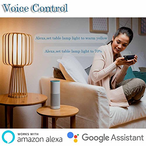 Boaz SmartLife E27,APP and Voice Assistant Controlled Smart Bulb,RGBW Color Changing Smart Light Bulbs,Dimmable White Light to Warm Yellow Smart LED Bulb,Works with Alexa and Google Assistant(2pack) by BoazSmart (Image #1)