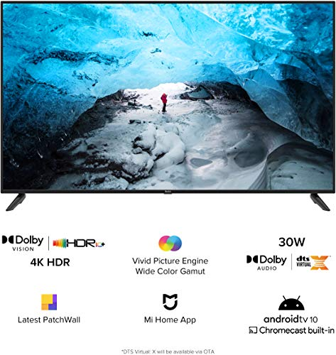Redmi X65 164 cm (65 inches) 4K Ultra HD Android Smart LED TV (Black)