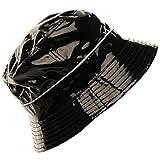 Unisex Rain Water Resistant Bucket Crusher Foldable Fisherman Hat Cap Black 58cm