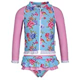 Sun Emporium Baby Girls Blue Pink Blossom Zip Jacket Nappy Cover Set 12M