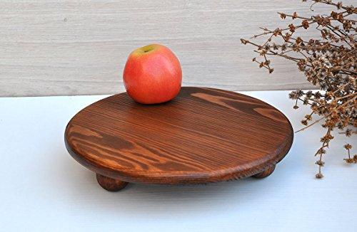 30cm Tabla de aperitivos en madera rústica Plato para servir Plato para tapas Plato de jamon y queso Soporte para pastel en...
