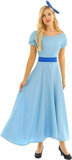 Agoky Disfraz de Princesa Cenicienta para Mujer Cosplay Vestido ...