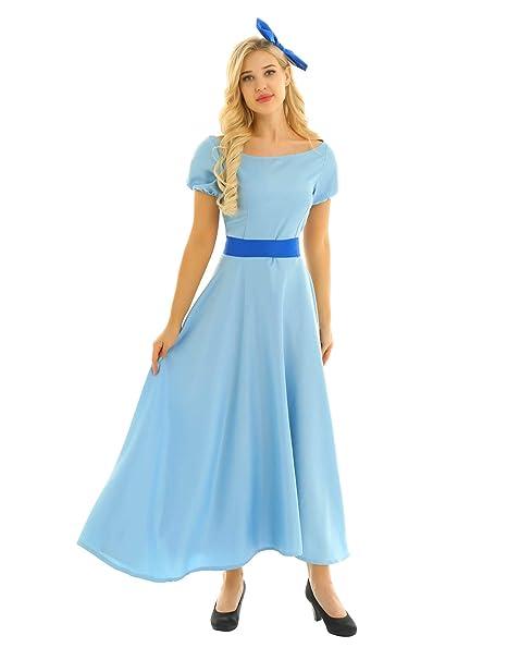 Agoky Disfraz de Princesa Cenicienta para Mujer Cosplay ...