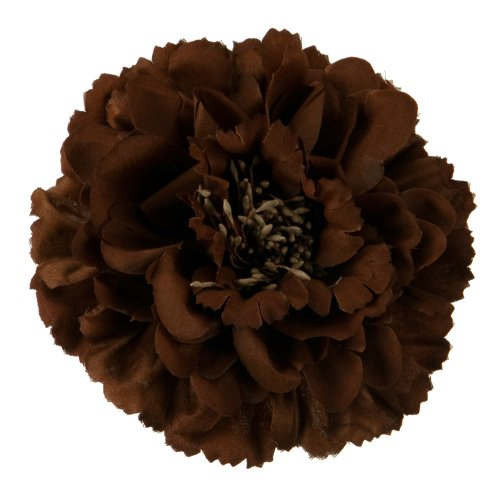 Multi Petal Flower with Pin and Clip - Brown OSFM