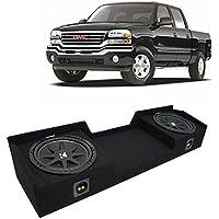 Fits 1999-2006 GMC Sierra Ext Cab Truck Kicker Comp C12 Dual 12 Sub Box Enclosure New - Final 2 Ohm
