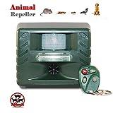 ALPEK Remote Ultrasonic Outdoor Animal Control Pest Repeller Motion Detector . Eco-Friendly -...