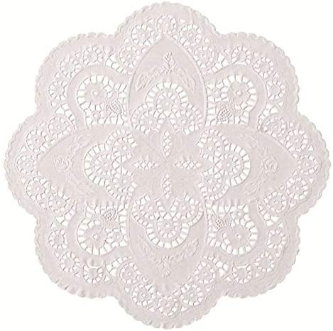 The Baker Celebrations 12 inch Off White Paper Lace Table Doilies – French Style Decorative Tableware Disposable Placemats (Pack of 50)
