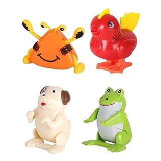 Toyvian Wind Up Animali Giocattoli a Molla Animali per Regali Bambibi 4PCS