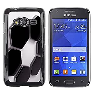 LECELL -- Funda protectora / Cubierta / Piel For Samsung Galaxy Ace 4 G313 SM-G313F -- Abstract Hexagons --