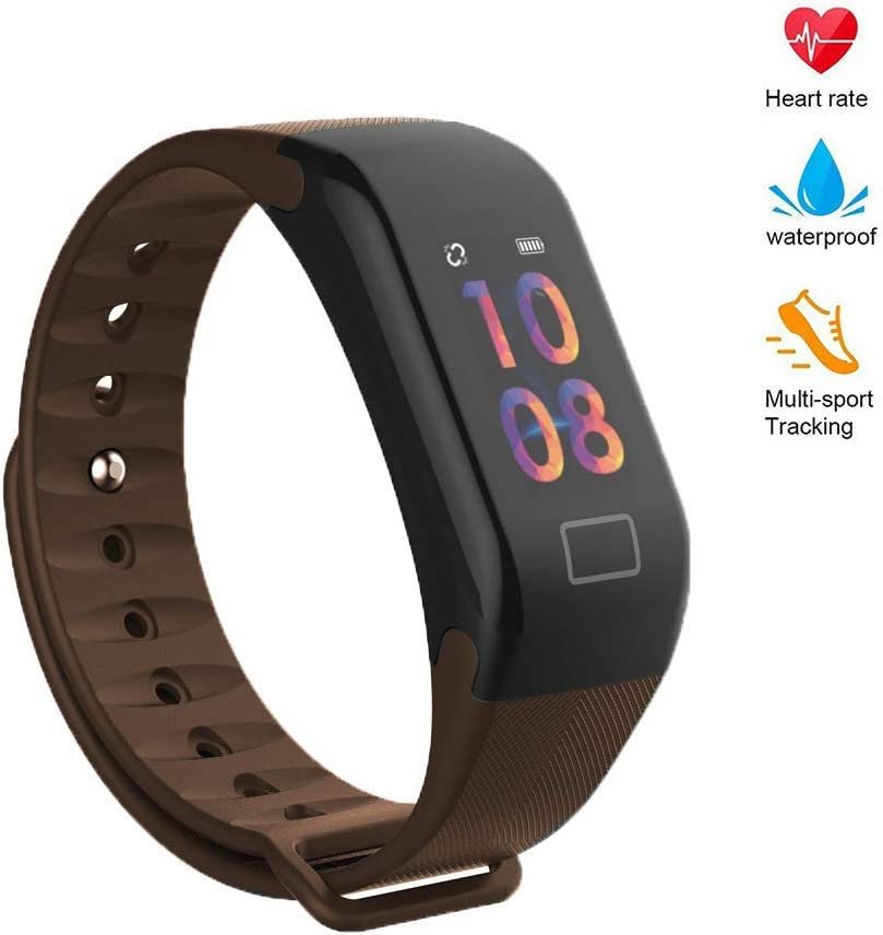 Blood Pressure Monitor Watch,Color Screen Fitness Tracker with Heart Rate Blood Oxygen Monitor,Smart Wristband with Calorie Counter Watch Pedometer Sleep Monitor Maroon