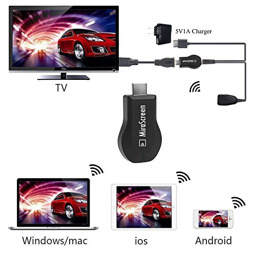 MiraScreen Wireless Display Dongle, Screen Mirror, 1080P HDMI Adapter, TV Stick Support Miracast DLNA Airplay Free Installation (no APP, no driver) TV Dongle for all smartphone by Yehua (Image #2)