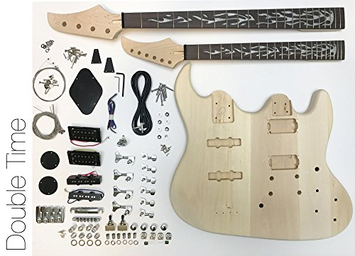 DIY Electric Guitar Kit - Double Neck Guitar and Bass (Best Double Neck Guitar)