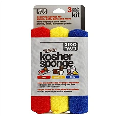 Amazon.com : Tallon Kosher Sponges Kit, 3 Count - Case Of 6 - 1 Kt : Grocery & Gourmet Food