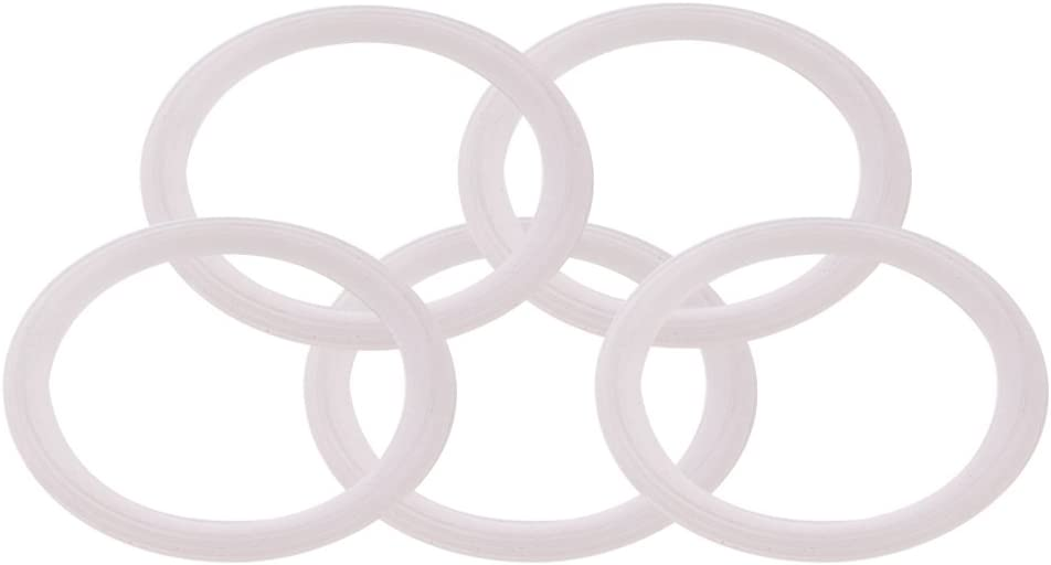 DERNORD Silicone Gasket Tri-Clover (Tri-clamp) O-Ring - 3 Inch (Pack of 5)
